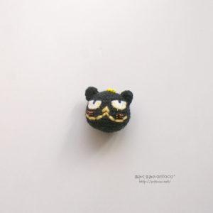 黒猫大吉くんのブローチ