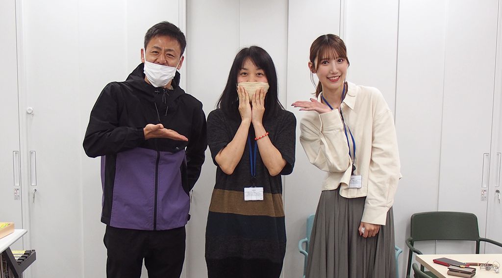 コンバット満さんと田中菜津美さん